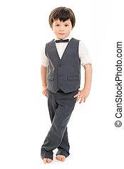 Little boy in suit