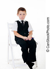 Little boy in the chair
