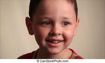 Little boy on a white background 2