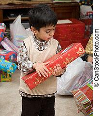 Little boy on Christmas