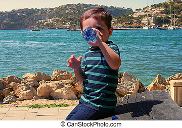 Little boy on Mallorca