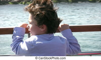 Little boy on the ship