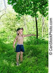 Little boy outdoors