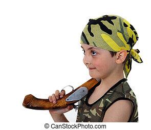 Little boy pirate