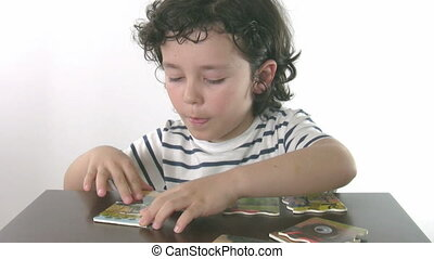 Little Boy Playing educational Toy
