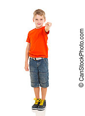 little boy pointing