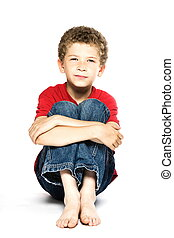 Little boy portrait smiling
