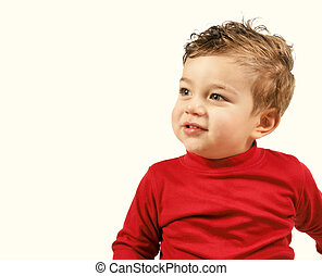 Little boy red - Cute toddler
