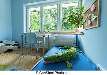 Little boy room from the inside