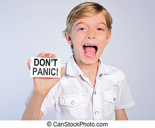 little boy say don't panic