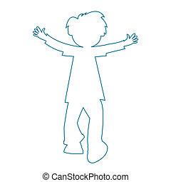 little boy silhouette