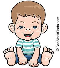 Little Boy - Vector illustration of A little Boy