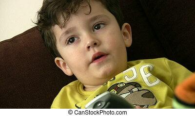 Little Boy Watchin Tv