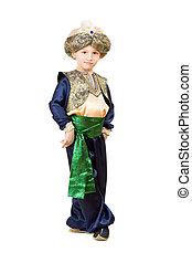 Little boy wearing oriental costume