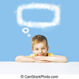 Little boy with a thought