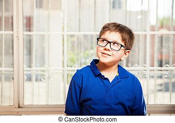 Little boy with an idea