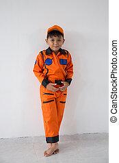 Little boy with astronaut dream