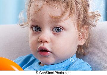 Little boy with big eyes