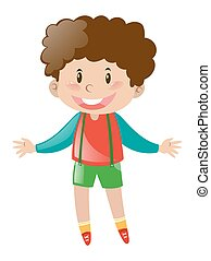 Little boy with brown curly hair