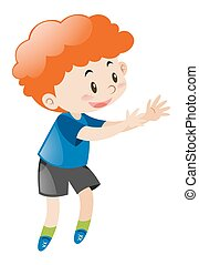 Little boy with red curly hair