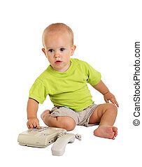 Little boy with the phone