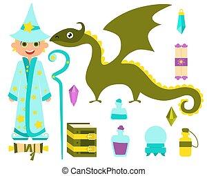 Little boy wizard