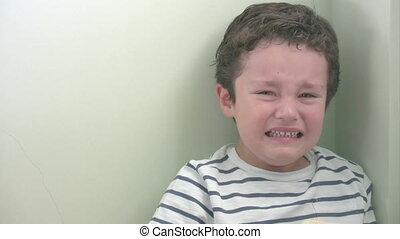 Little boy's anger