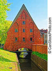 Little Brick Mill in Gdansk, Poland