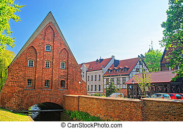 Little Brick Mill of Gdansk, Poland