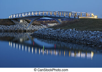 Little bridge by the Lakefront in Milwaukee