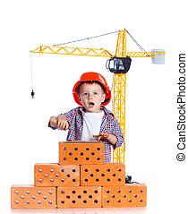 Little builder boy.
