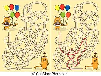 Little cat maze