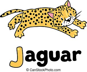 Little cheetah or jaguar for ABC - Children vector...