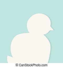 little chicken silhouette