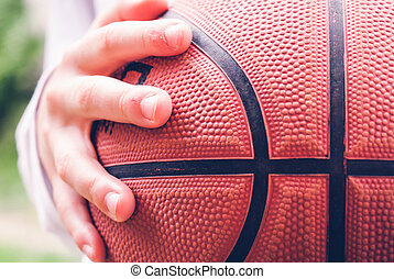 little child basketball player outdoor - sensory connections