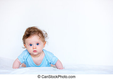 Little child boy with blue eyes