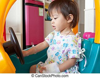 Little child in hospital