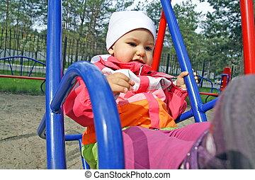 Little Child Swinging