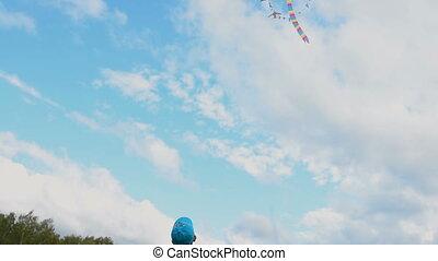 Little child with kite