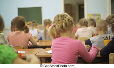Little Children in class at school
