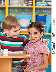 Little children in language camp