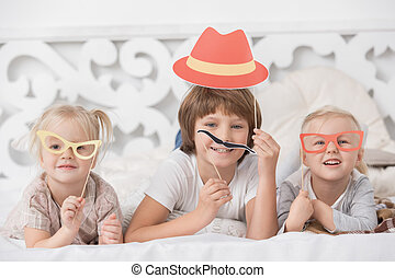 Little Children Playing Together at Home Concept