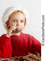 Little chocolate Santa