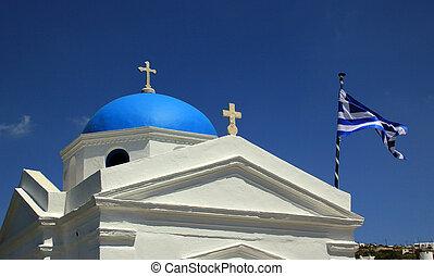 Little church in Mykonos island, Greece