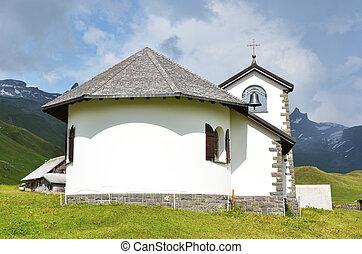 Little church in Tannalp, Switzerland