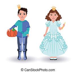 Cinderella princess and prince