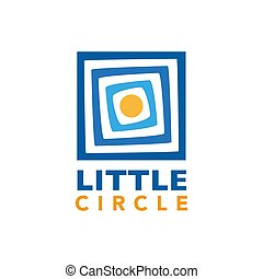 Little Circle on Triple Square Logo Vector