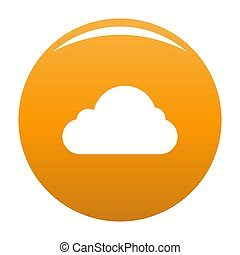 Little cloud icon orange