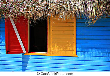 Little colorful caribbean window.