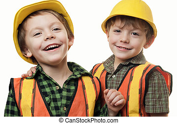 little construction workers